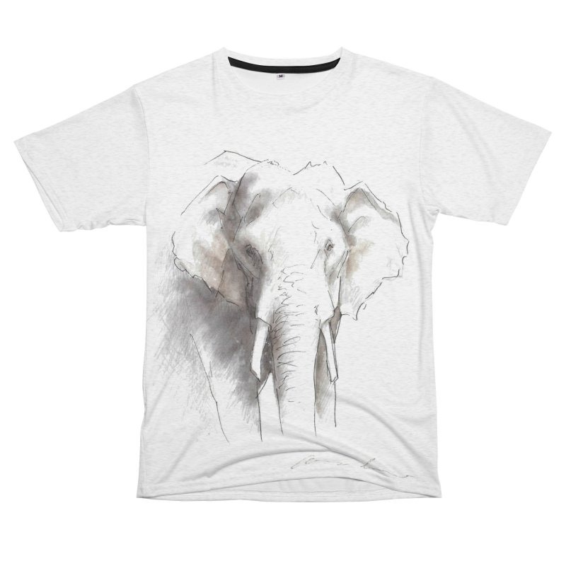 Carina Kramer - Asian Elephant Sketch Men's Cut & Sew by Trunks & Leaves' Artist Shop