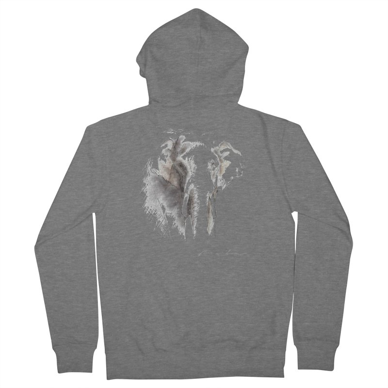Carina Kramer - Asian Elephant Sketch Men's Zip-Up Hoody by Trunks & Leaves' Artist Shop