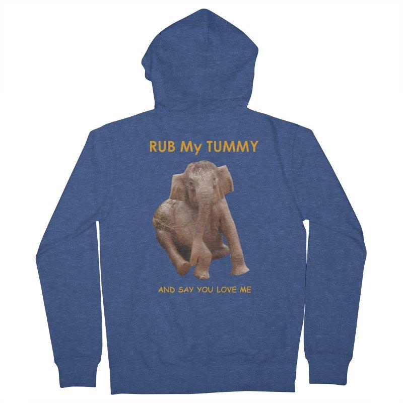 Tummy Love Men's Zip-Up Hoody by Trunks & Leaves' Artist Shop