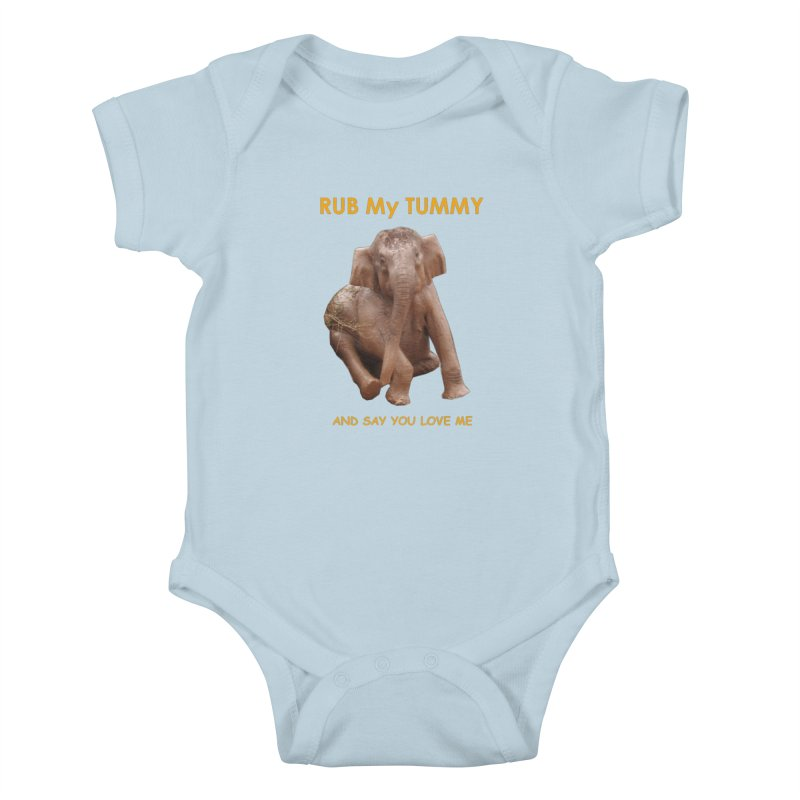 Tummy Love Kids Baby Bodysuit by Trunks & Leaves' Artist Shop