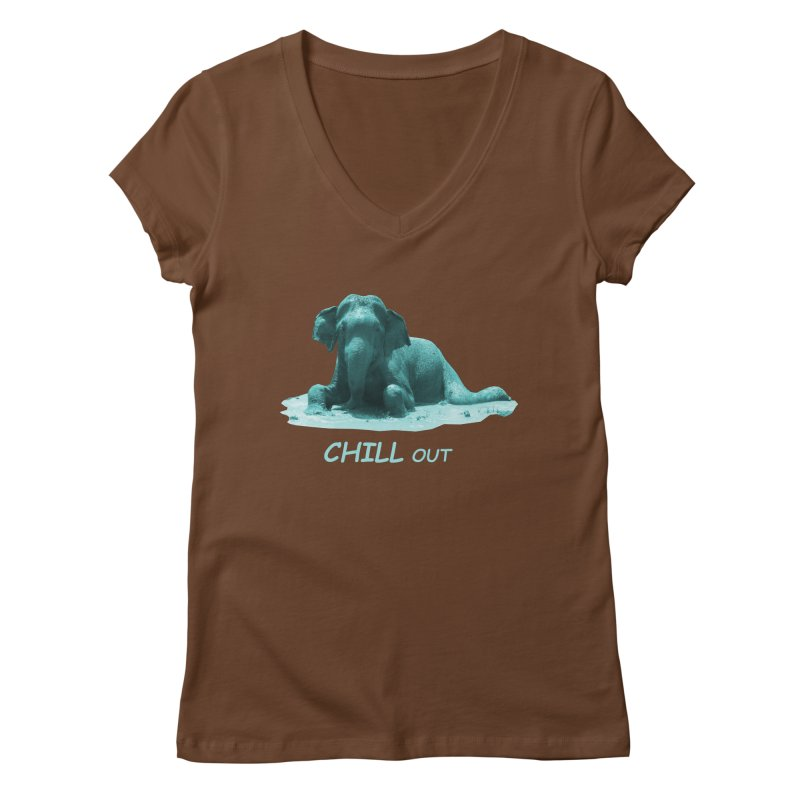 Chill Out Women's V-Neck by Trunks & Leaves' Artist Shop