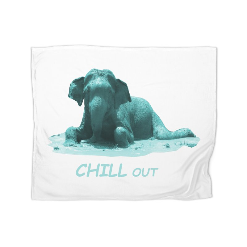 Chill Out Home Blanket by Trunks & Leaves' Artist Shop