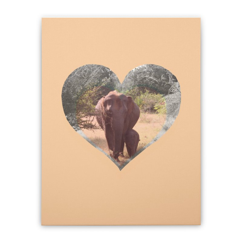 Mama Love Home Stretched Canvas by Trunks & Leaves' Artist Shop