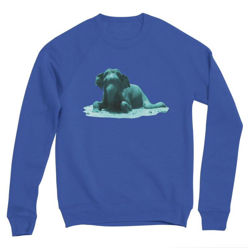 Lazy Boy Blue Men's Sweatshirt by Trunks & Leaves' Artist Shop
