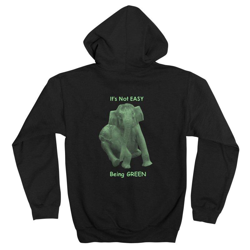 Being Green Men's Zip-Up Hoody by Trunks & Leaves' Artist Shop