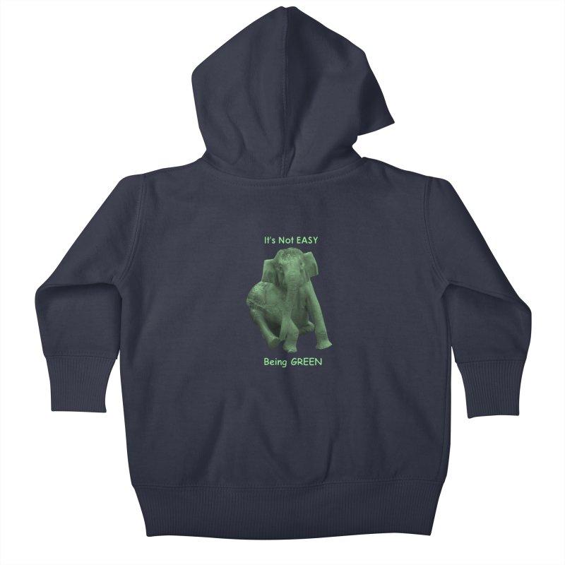 Being Green Kids Baby Zip-Up Hoody by Trunks & Leaves' Artist Shop