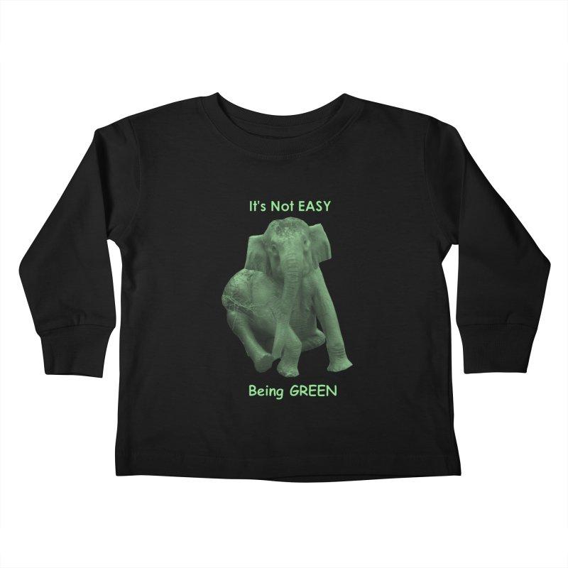 Being Green Kids Toddler Longsleeve T-Shirt by Trunks & Leaves' Artist Shop