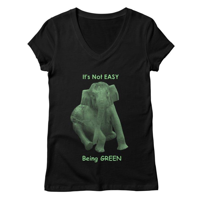 Being Green Women's V-Neck by Trunks & Leaves' Artist Shop