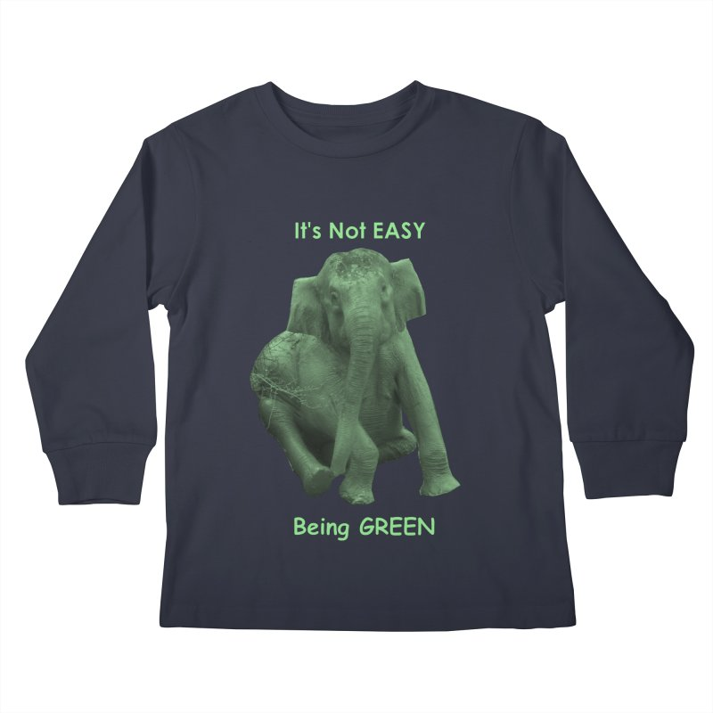 Being Green Kids Longsleeve T-Shirt by Trunks & Leaves' Artist Shop