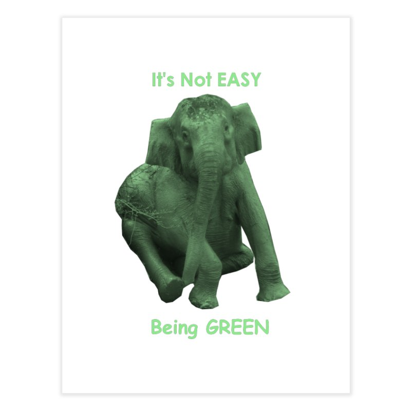 Being Green Home Fine Art Print by Trunks & Leaves' Artist Shop