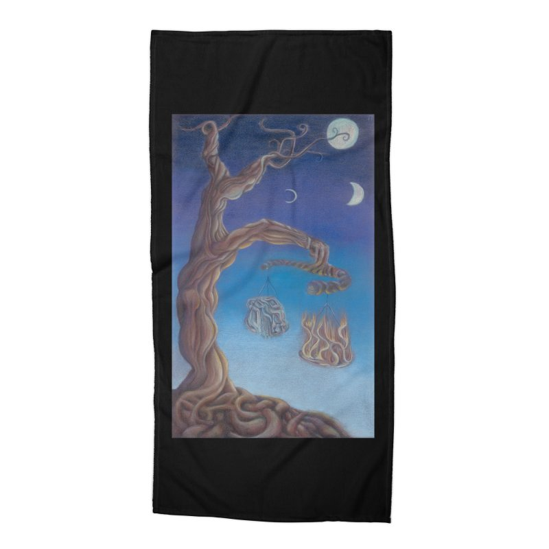 Balance of Fire and Water Accessories Beach Towel by Elevated Space