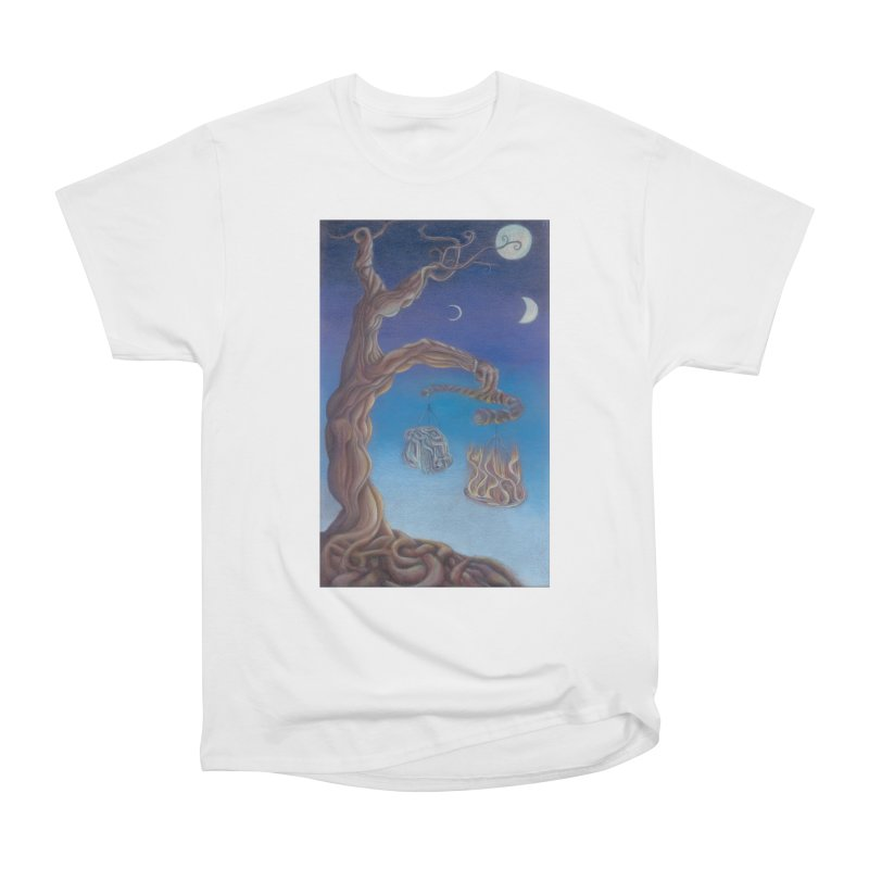 Balance of Fire and Water Men's Heavyweight T-Shirt by Elevated Space