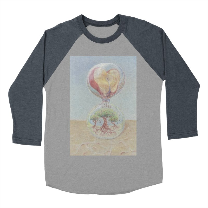 Apples Through Time Women's Baseball Triblend Longsleeve T-Shirt by Elevated Space