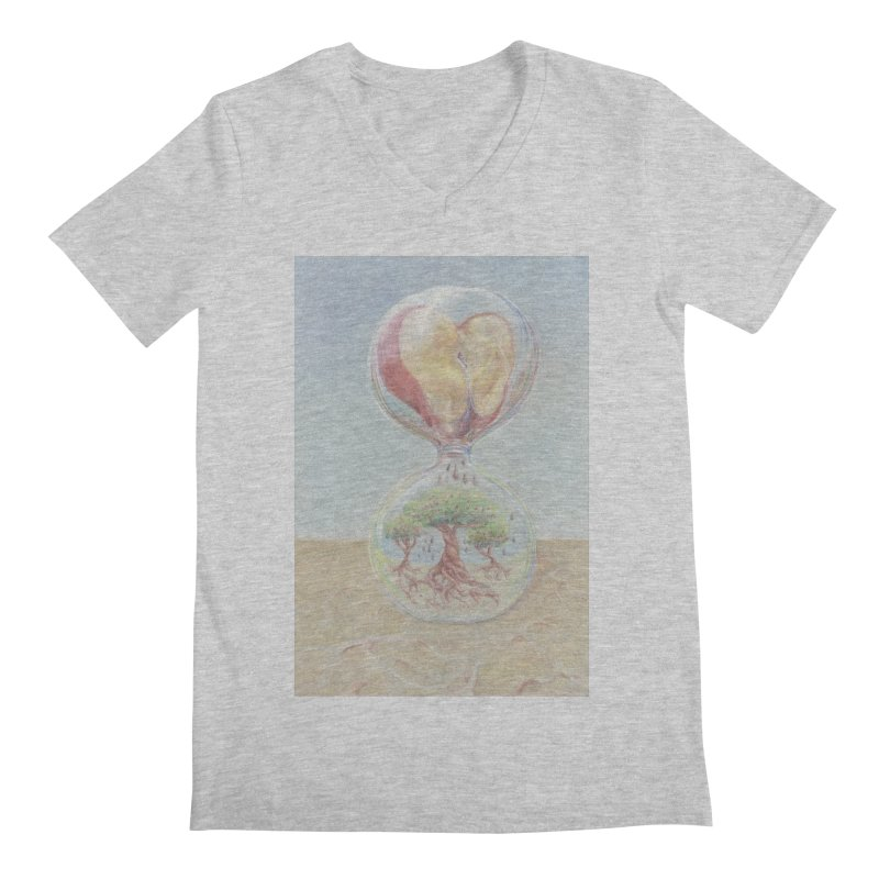 Apples Through Time Men's Regular V-Neck by Elevated Space