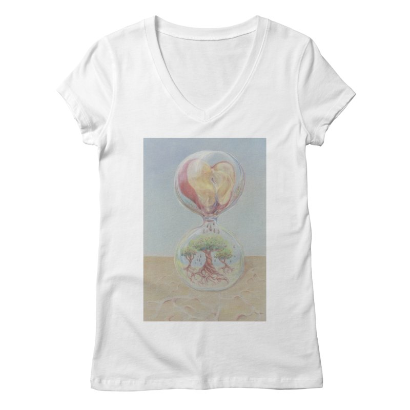 Apples Through Time Women's Regular V-Neck by Elevated Space