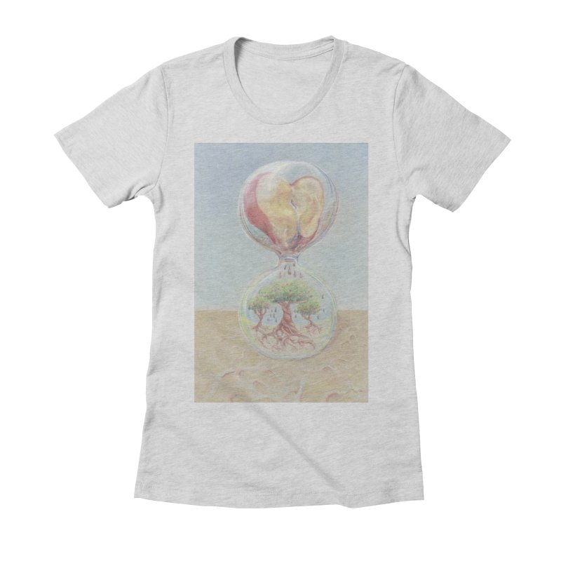 Apples Through Time Women's Fitted T-Shirt by Elevated Space
