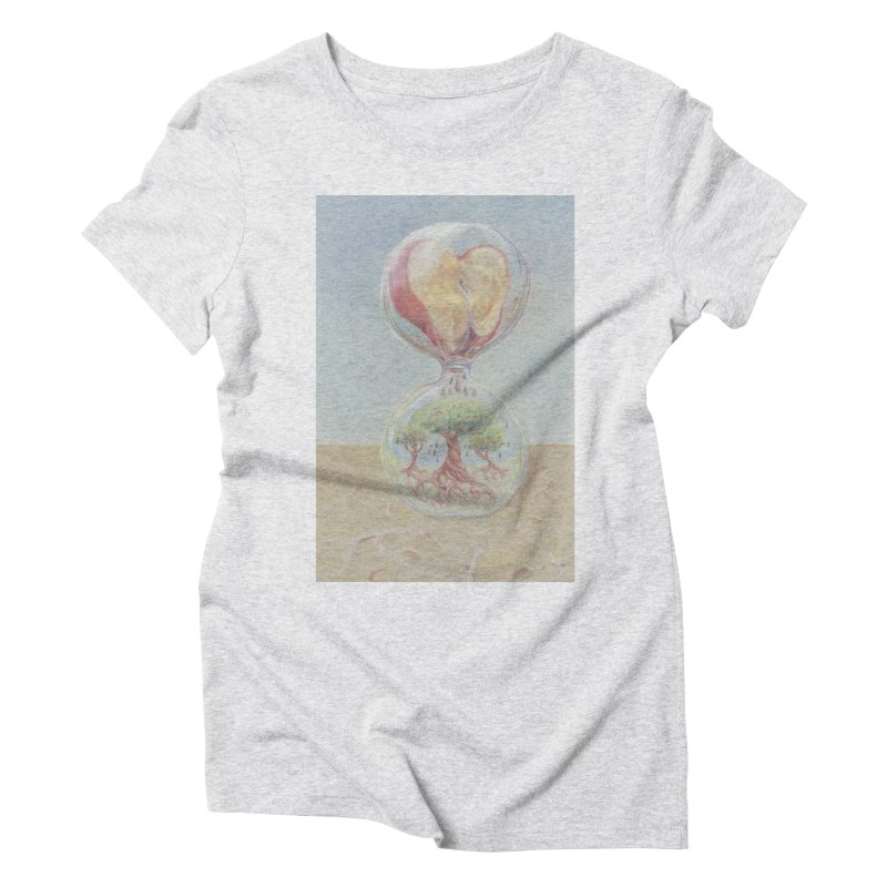 Apples Through Time Women's Triblend T-Shirt by Elevated Space