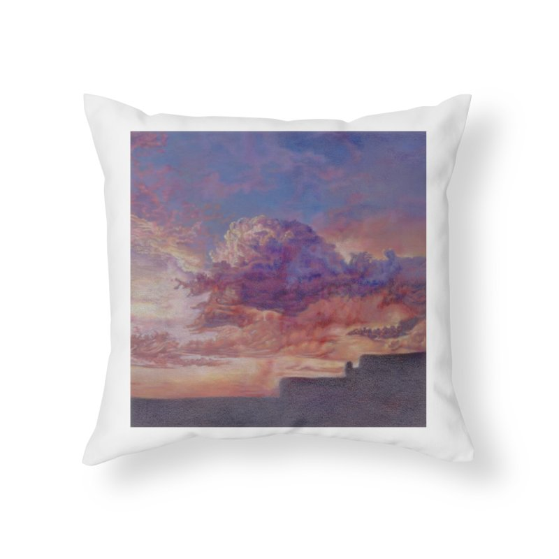 Clouds Home Throw Pillow by Elevated Space