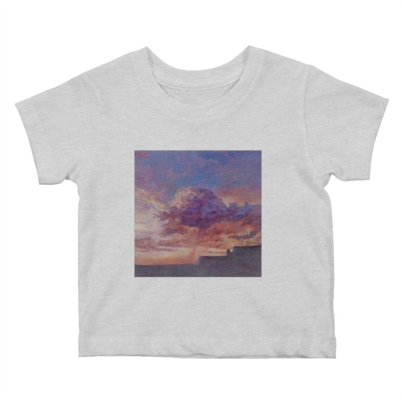 Clouds Kids Baby T-Shirt by Elevated Space