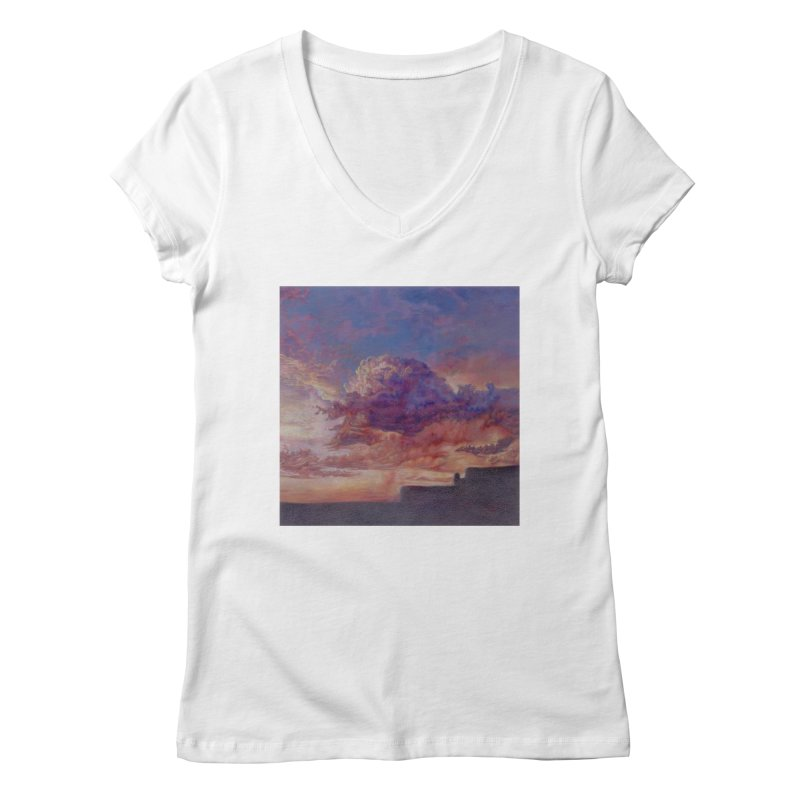 Clouds Women's Regular V-Neck by Elevated Space