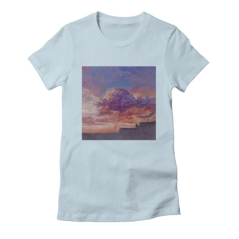 Clouds Women's Fitted T-Shirt by Elevated Space