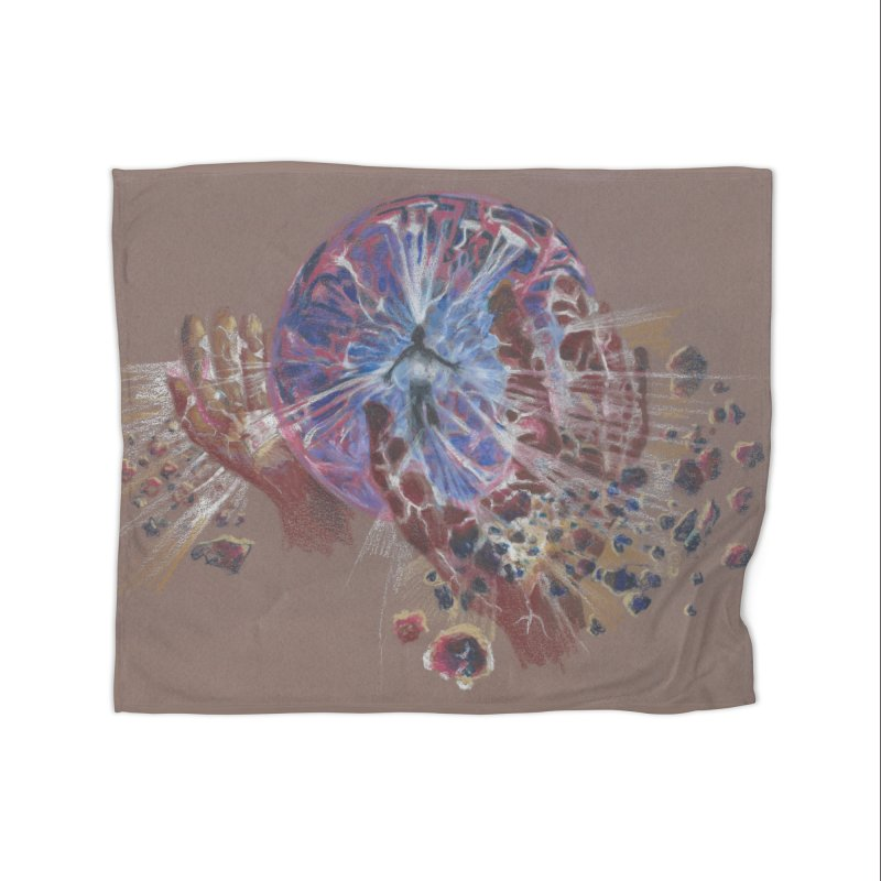 Mind over Matter Home Fleece Blanket Blanket by Elevated Space