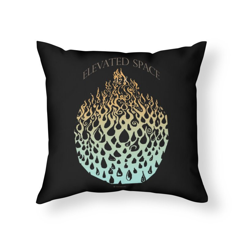 Fire to Water Home Throw Pillow by Elevated Space