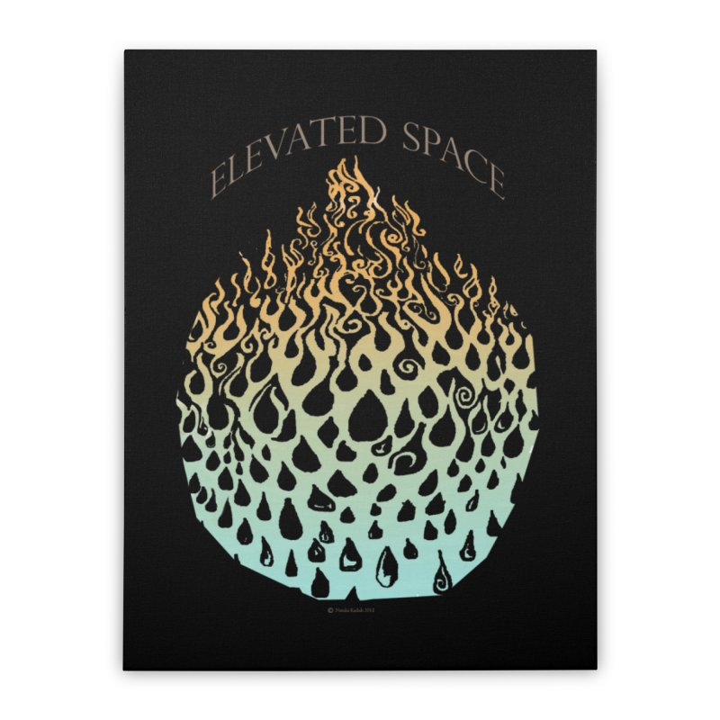 Fire to Water Home Stretched Canvas by Elevated Space