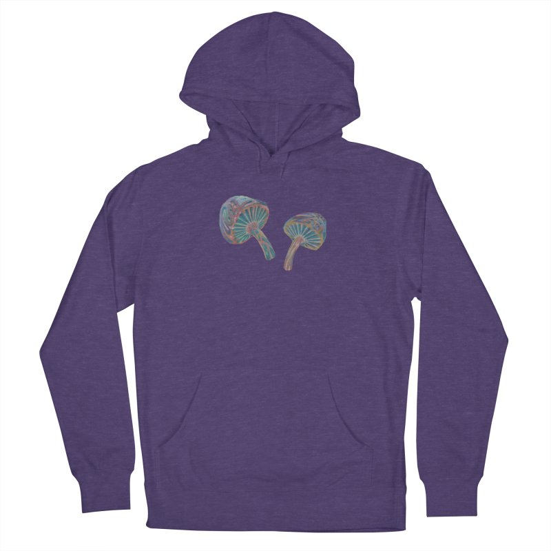 Rainbow Mushroom Men's French Terry Pullover Hoody by Elevated Space