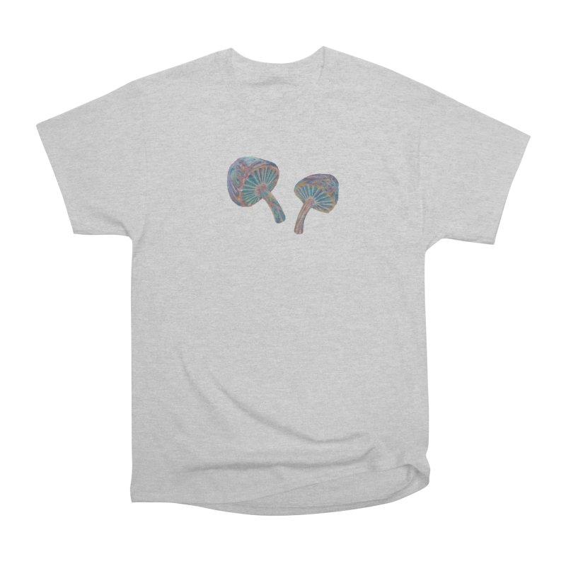 Rainbow Mushroom Women's Heavyweight Unisex T-Shirt by Elevated Space