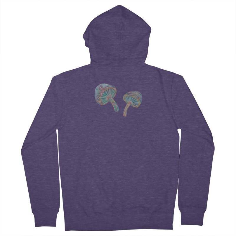 Rainbow Mushroom Men's French Terry Zip-Up Hoody by Elevated Space