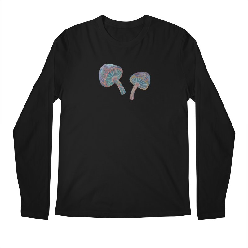 Rainbow Mushroom Men's Regular Longsleeve T-Shirt by Elevated Space