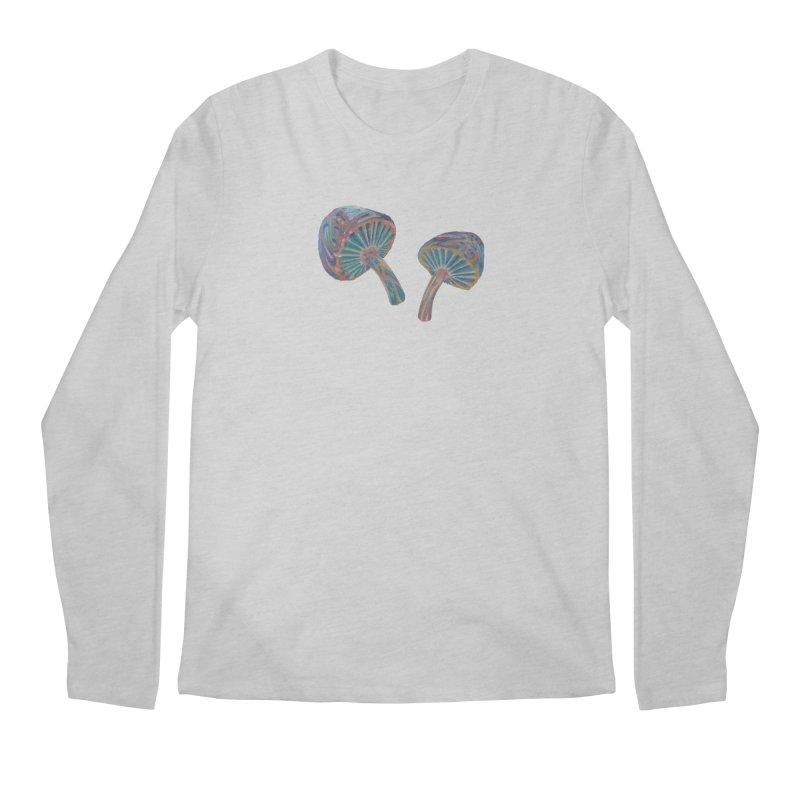 Rainbow Mushroom Men's Regular Longsleeve T-Shirt by Elevated Space