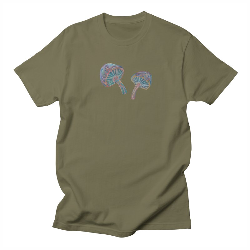 Rainbow Mushroom Men's T-Shirt by Elevated Space