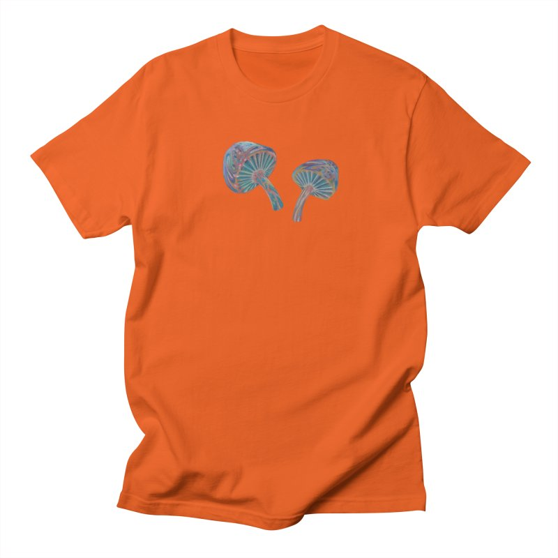 Rainbow Mushroom Women's Regular Unisex T-Shirt by Elevated Space