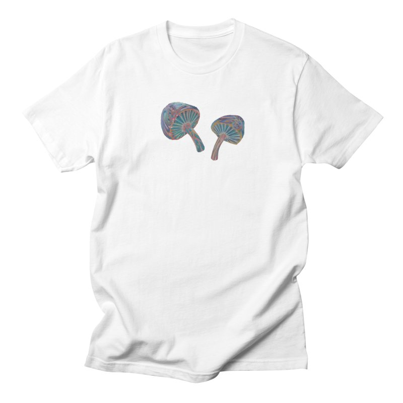 Rainbow Mushroom Men's Regular T-Shirt by Elevated Space