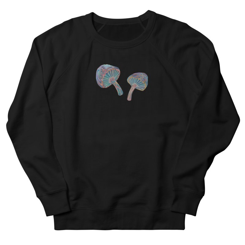 Rainbow Mushroom Men's French Terry Sweatshirt by Elevated Space