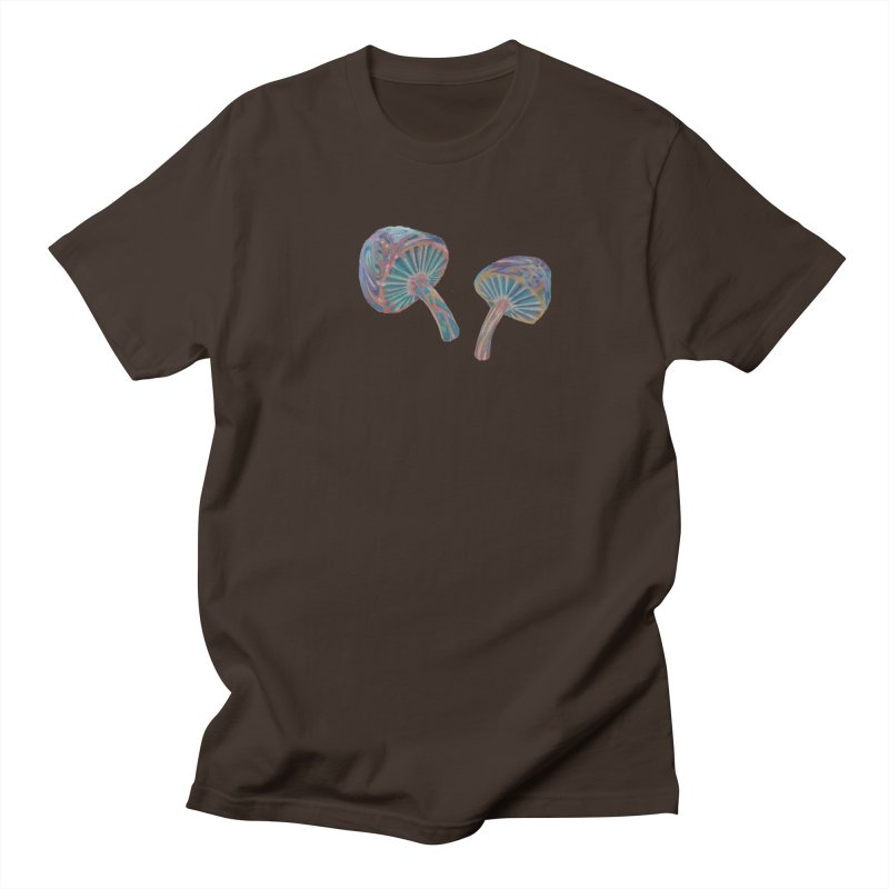 Rainbow Mushroom Men's Regular T-Shirt by Elevated Space