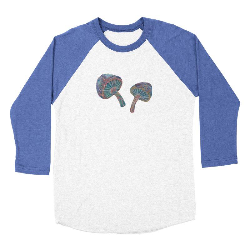 Rainbow Mushroom Men's Baseball Triblend Longsleeve T-Shirt by Elevated Space