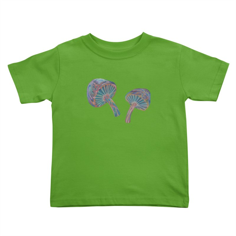 Rainbow Mushroom Kids Toddler T-Shirt by Elevated Space