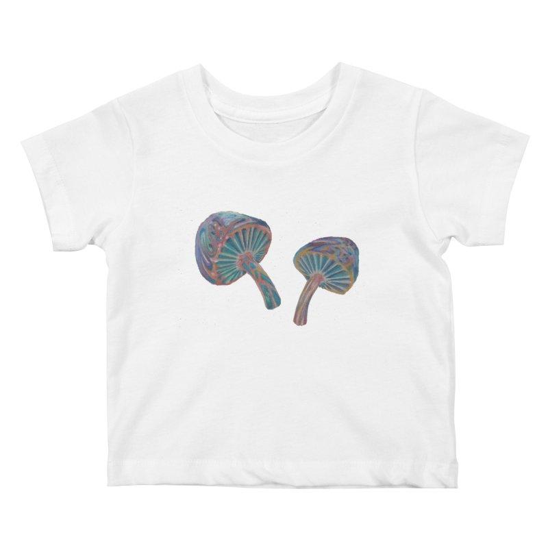Rainbow Mushroom Kids Baby T-Shirt by Elevated Space