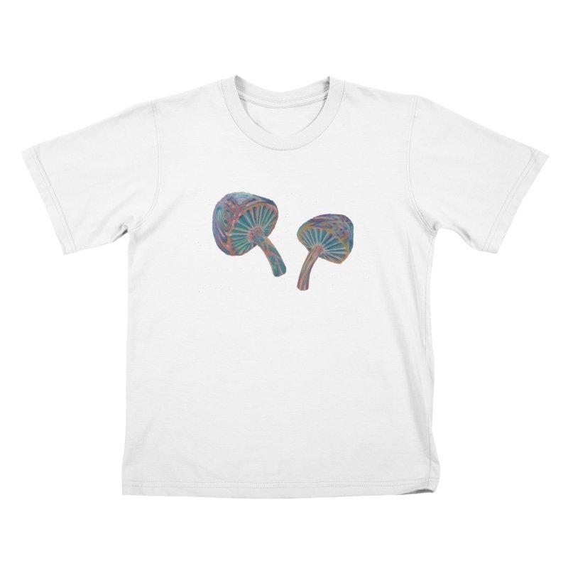 Rainbow Mushroom Kids T-Shirt by Elevated Space