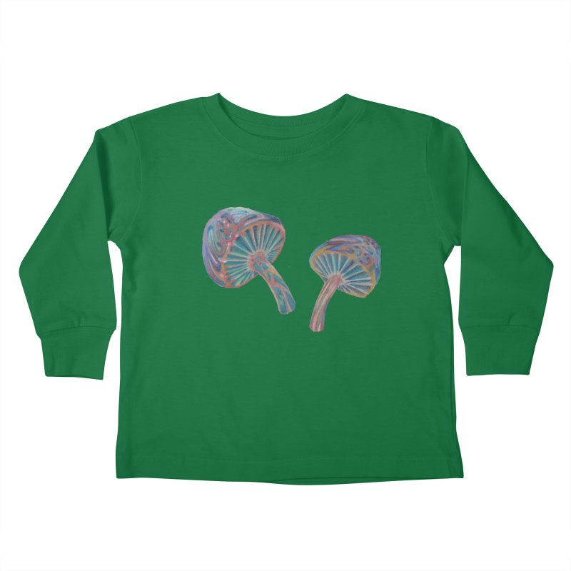 Rainbow Mushroom Kids Toddler Longsleeve T-Shirt by Elevated Space