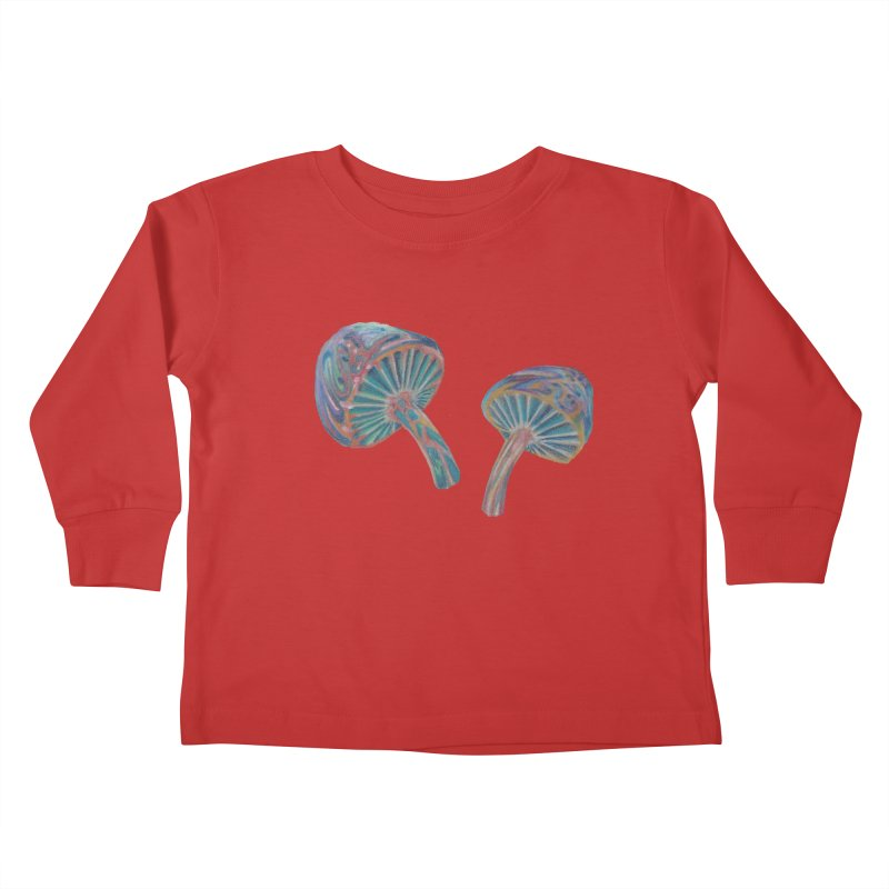 Rainbow Mushroom Kids Toddler Longsleeve T-Shirt by Elevated Space