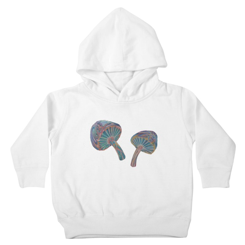 Rainbow Mushroom Kids Toddler Pullover Hoody by Elevated Space