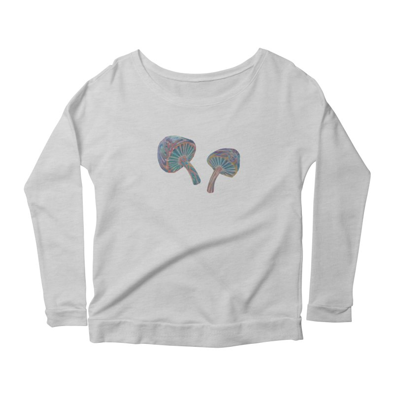Rainbow Mushroom Women's Scoop Neck Longsleeve T-Shirt by Elevated Space