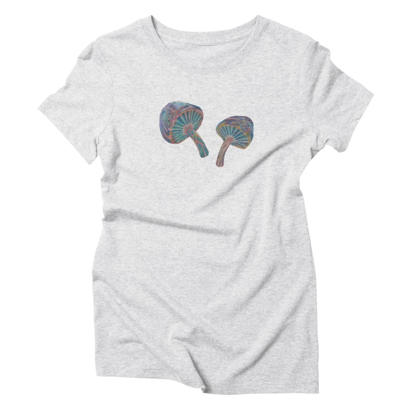 Rainbow Mushroom Women's Triblend T-Shirt by Elevated Space