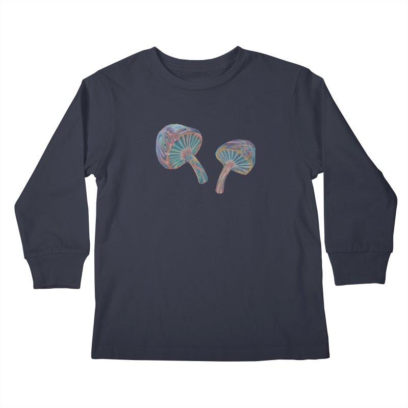 Rainbow Mushroom Kids Longsleeve T-Shirt by Elevated Space