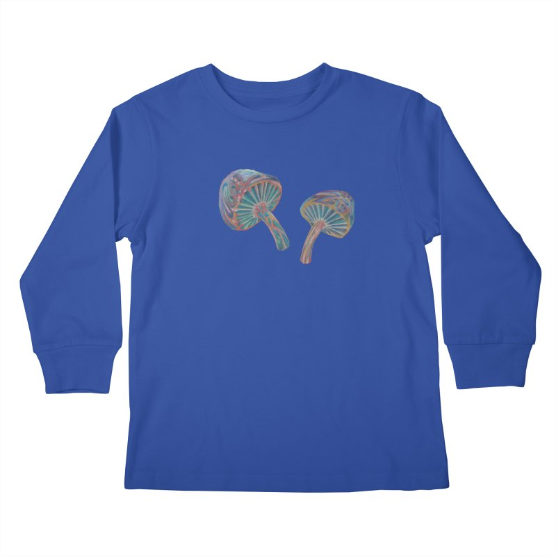 Rainbow Mushroom Kids Longsleeve T-Shirt by Elevated Space