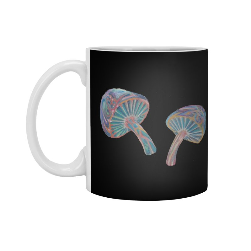 Rainbow Mushroom Accessories Standard Mug by Elevated Space